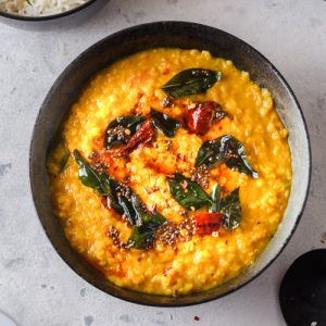 red lentil dal in a bowl