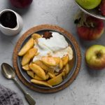 Easy sauteed apples on a plate
