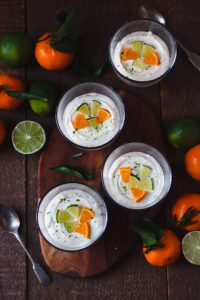 mandarin lime cheesecake pots