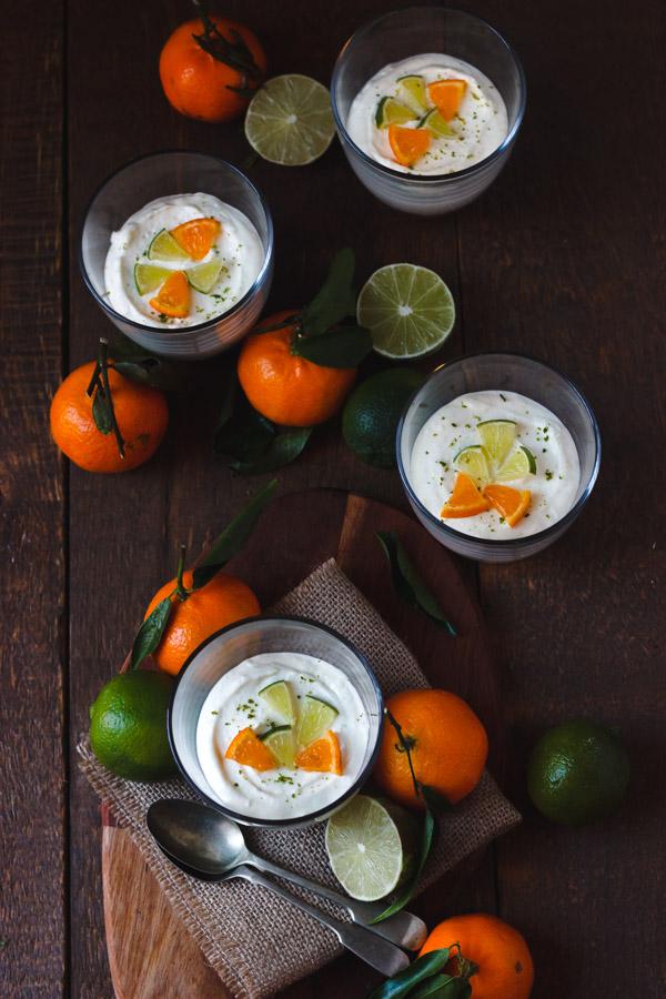 mandarin lime cheesecake pots