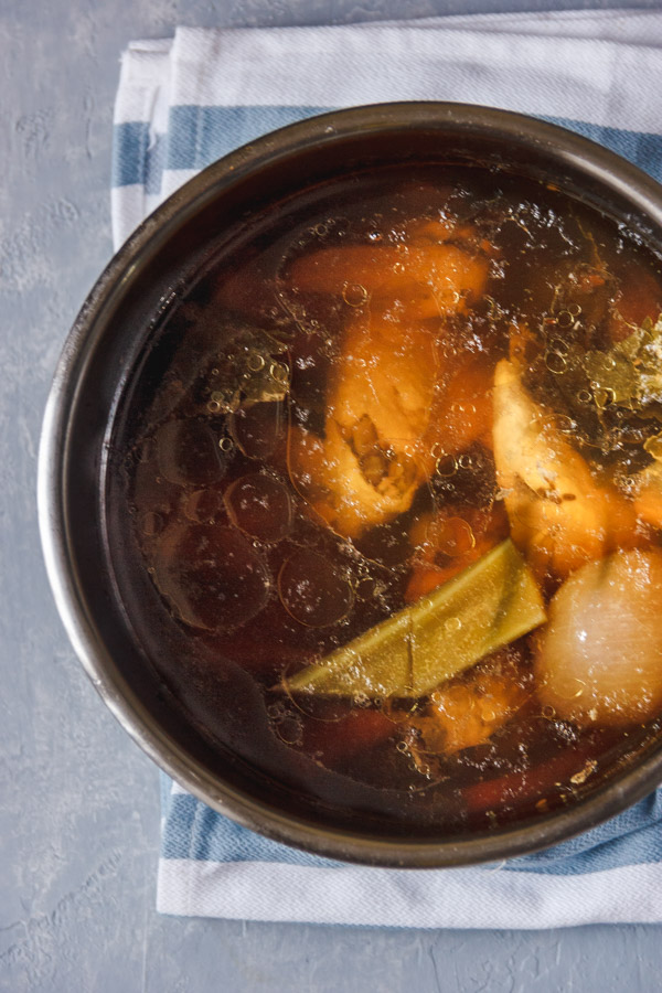 chicken stock in an instant pot