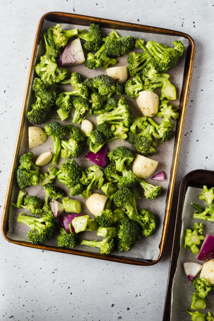 Ingredients for Easy Roasted Broccoli Soup