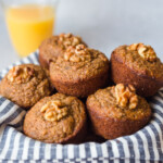 Banana oat lactation muffins in a bowl