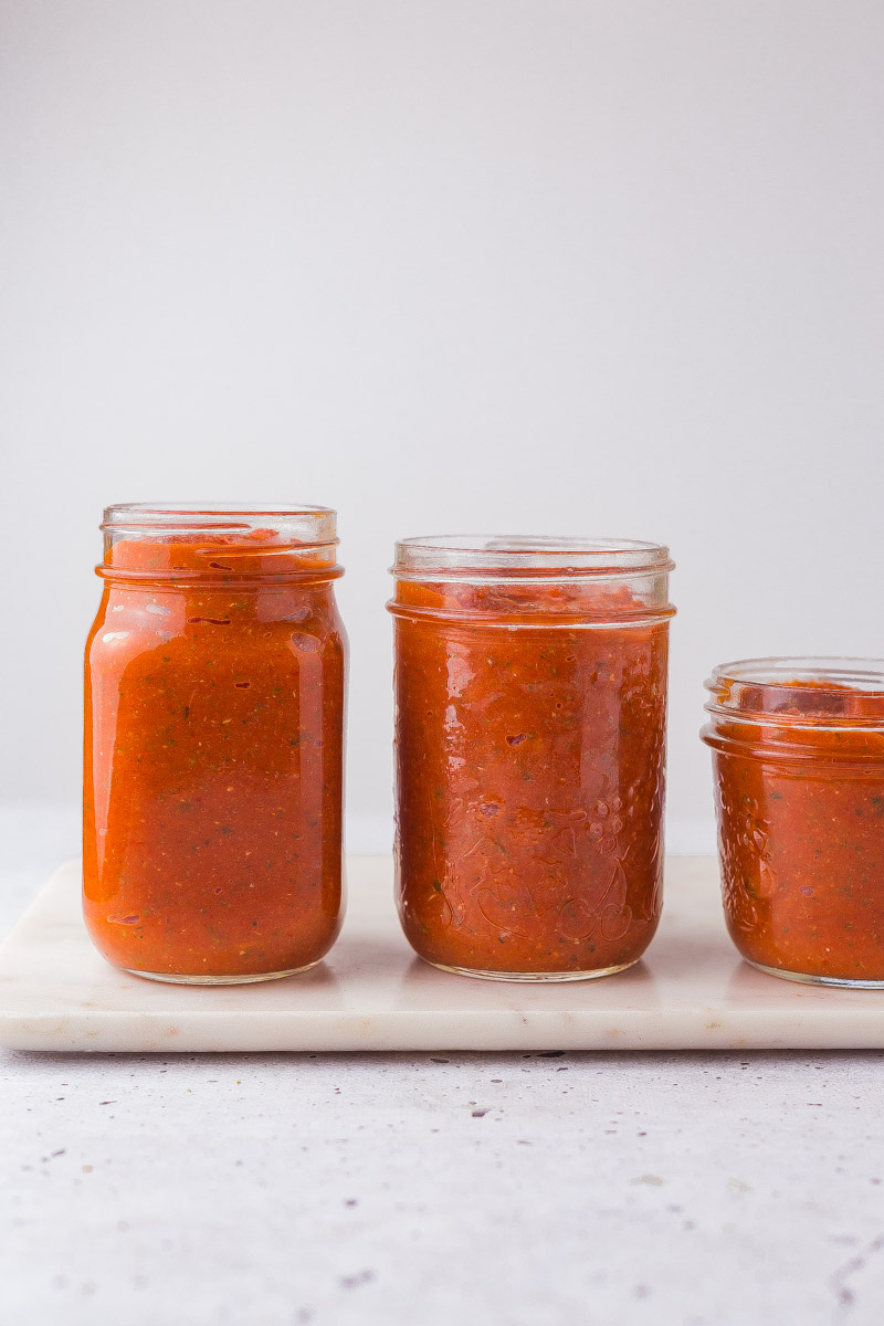 roasted vegetable and tomato pasta sauce in bottles